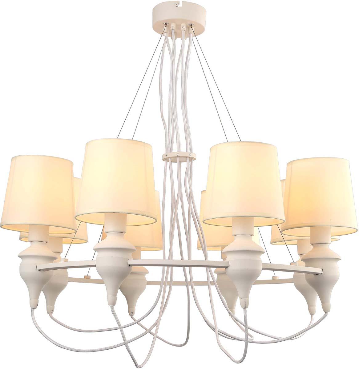 Светильник подвесной Arte Lamp Sergio, 8 х E14, 40 W. A3326LM-8WHA3326LM-8WH