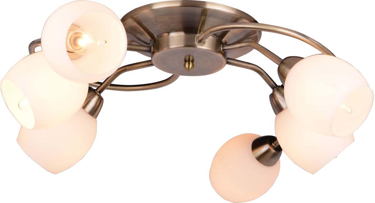 Светильник потолочный Arte Lamp Silvana, 6 х E14, 40 W. A4033PL-6AB arte lamp люстра на штанге arte lamp a6059pl 6ab