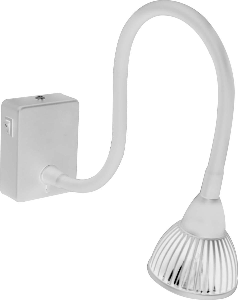 Светильник настенный Arte Lamp Cercare, цвет: белый, 1 х LED, 7 W. A4107AP-1WHA4107AP-1WH