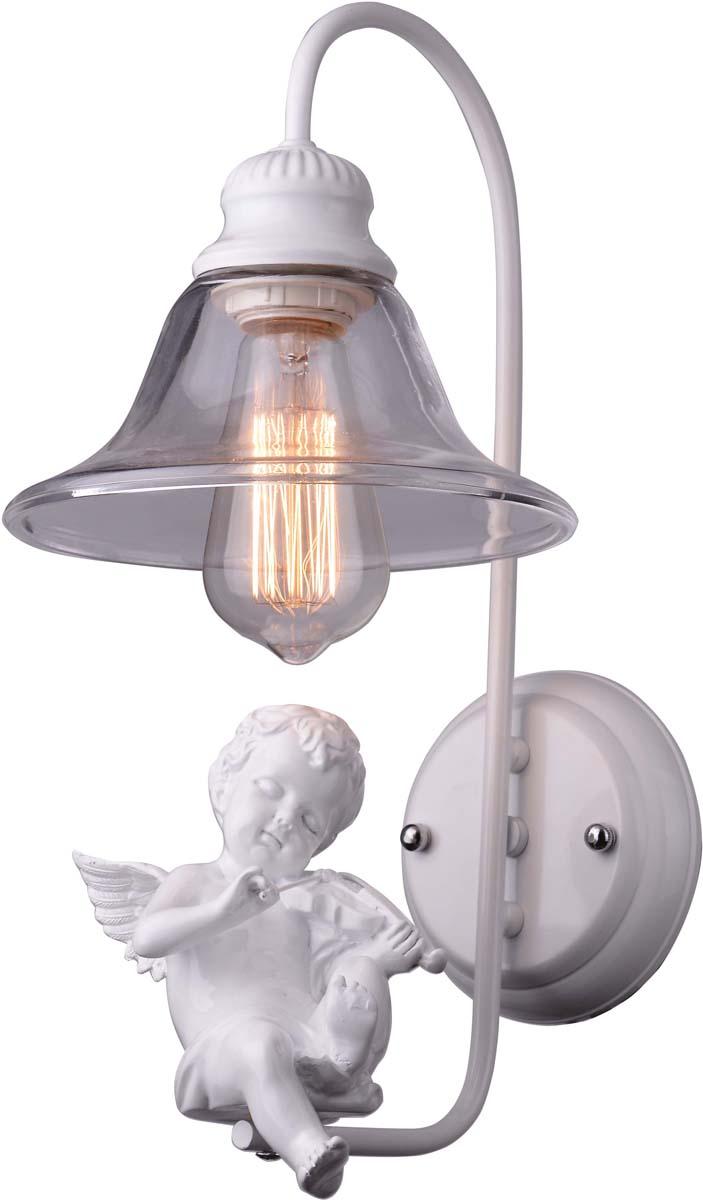 Бра Arte Lamp Amur, 1 х E27, 40 W. A4288AP-1WH бра arte lamp virata 1 х led 7 w a1807ap 1wh