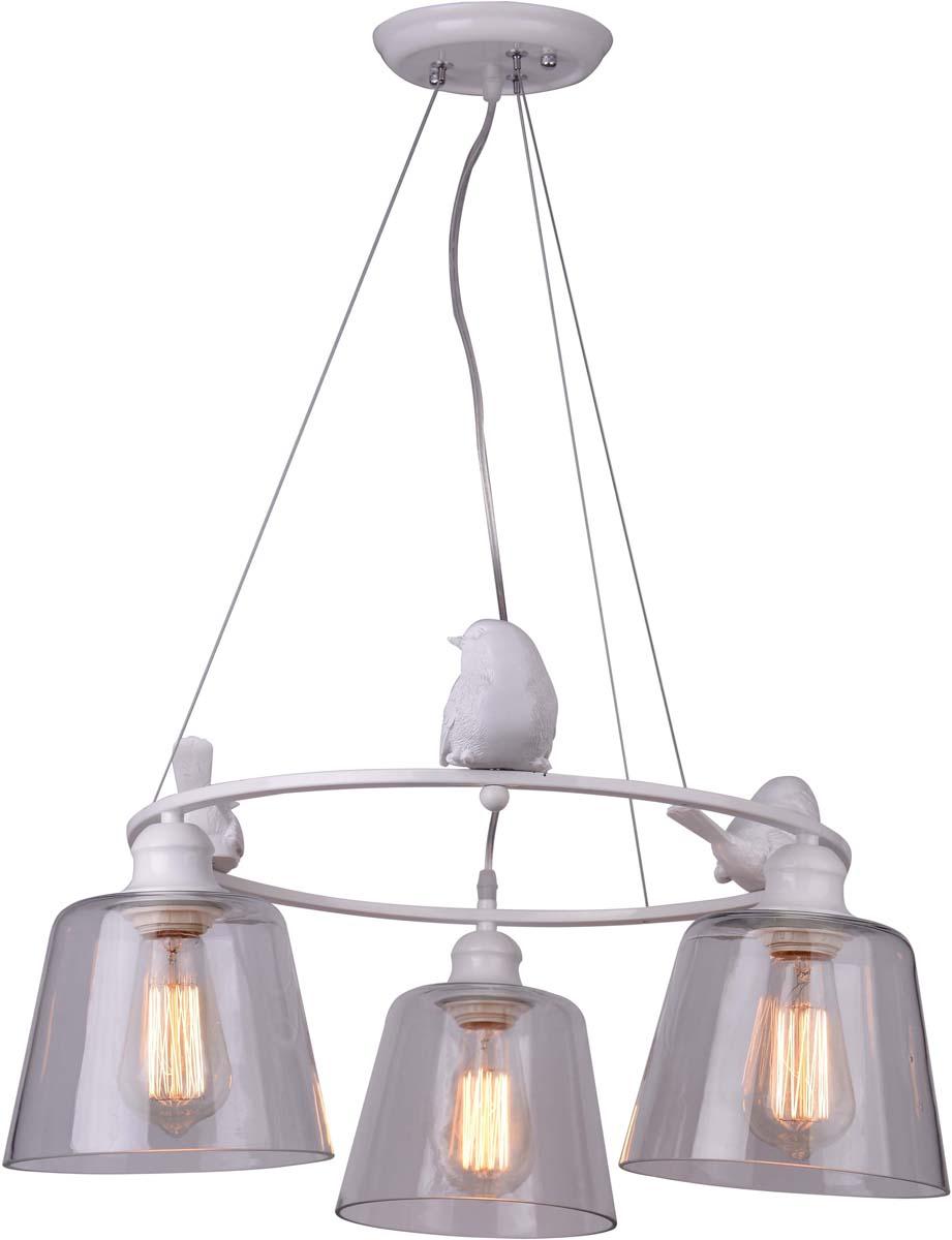 Светильник подвесной Arte Lamp Passero, 3 х E27, 40 W. A4289LM-3WH nordic wrought iron simple modern pendant lamp with led bulb dinning room light cafe lamp e27 110v 220v free shipping