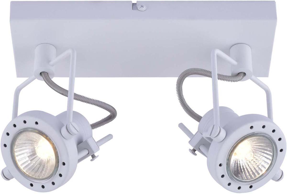 Светильник настенный Arte Lamp Costruttore, цвет: белый, 2 х GU10, 50 W. A4300AP-2WHA4300AP-2WH