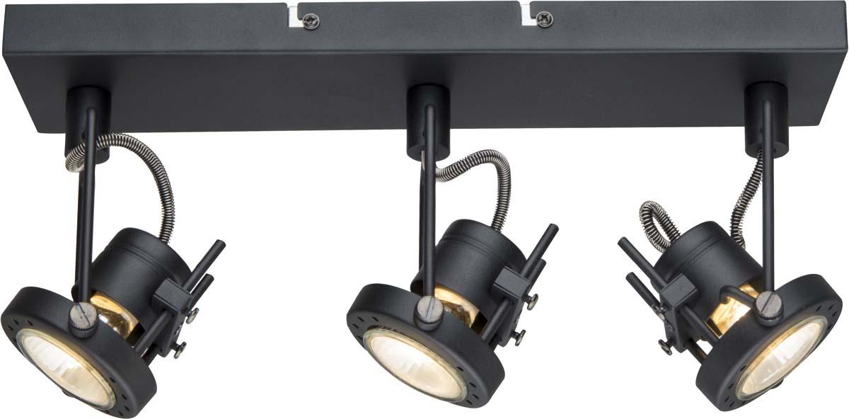 Светильник потолочный Arte Lamp Costruttore, цвет: черный, 3 х GU10, 50 W. A4300PL-3BK
