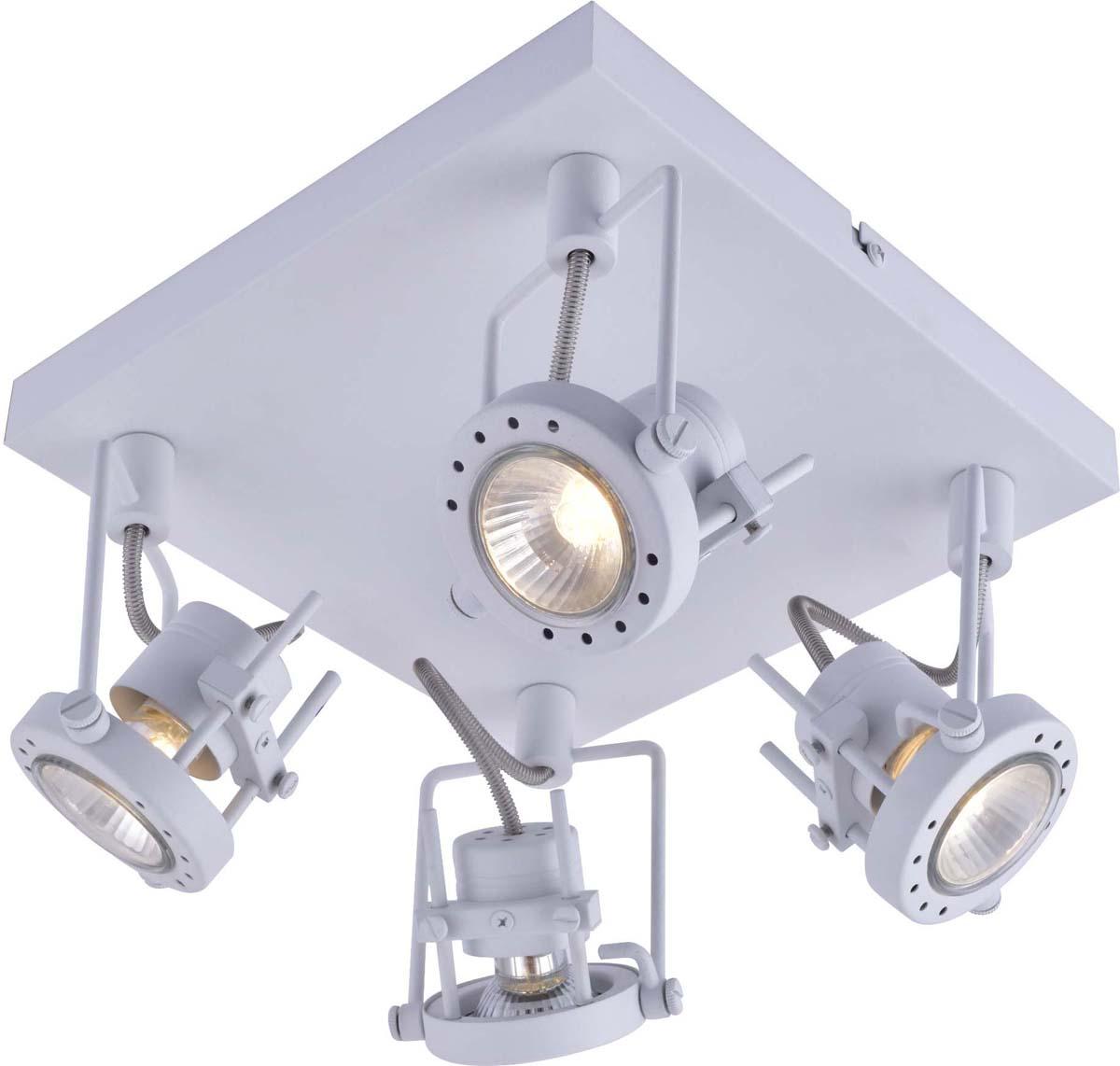 Светильник потолочный Arte Lamp Costruttore, цвет: белый, 4 х GU10, 50 W. A4300PL-4WH