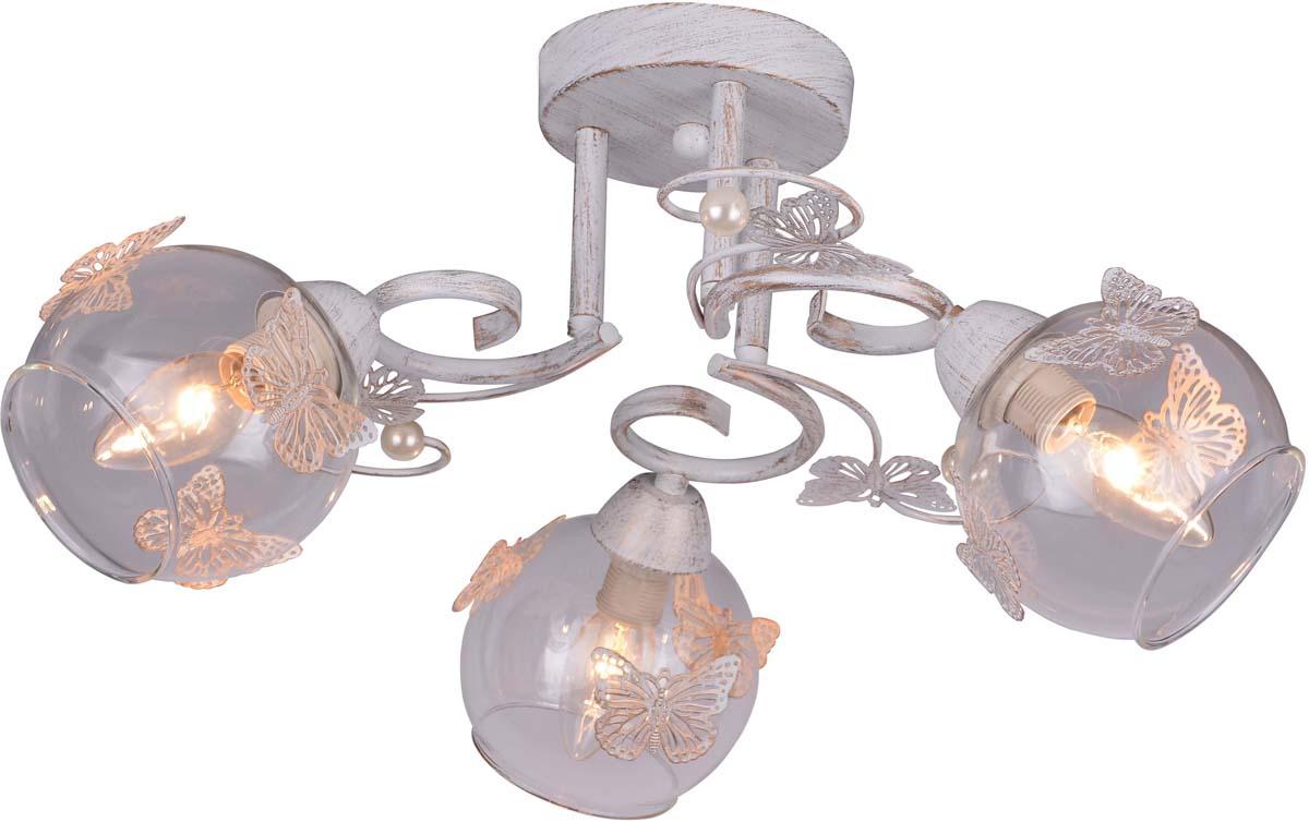 Светильник потолочный Arte Lamp Alessandra, 3 х E14, 40 W. A5004PL-3WG люстра на штанге arte lamp alessandra a5004pl 3ab