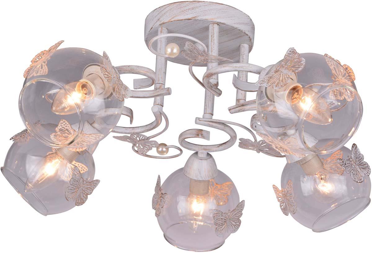 Светильник потолочный Arte Lamp Alessandra, 5 х E14, 40 W. A5004PL-5WG люстра на штанге arte lamp alessandra a5004pl 3ab
