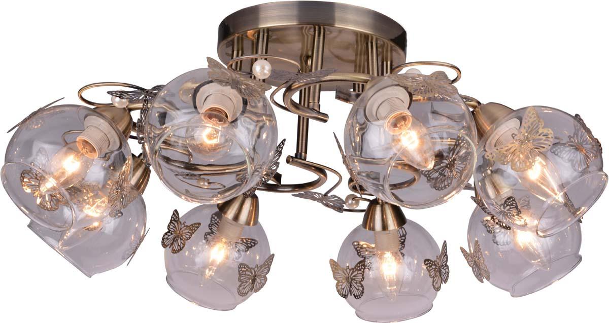 Светильник потолочный Arte Lamp Alessandra, цвет: бронза, 8 х E14, 40 W. A5004PL-8AB