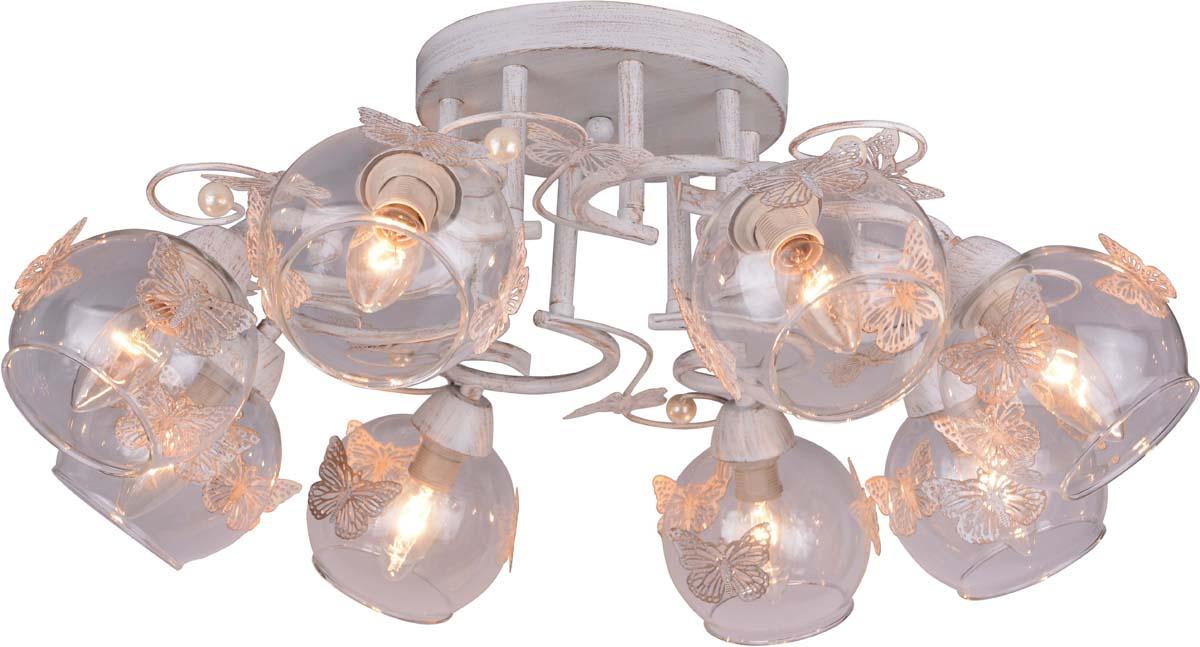 Светильник потолочный Arte Lamp Alessandra, цвет: белый, золотой, 8 х E14, 40 W. A5004PL-8WG люстра на штанге arte lamp alessandra a5004pl 3ab