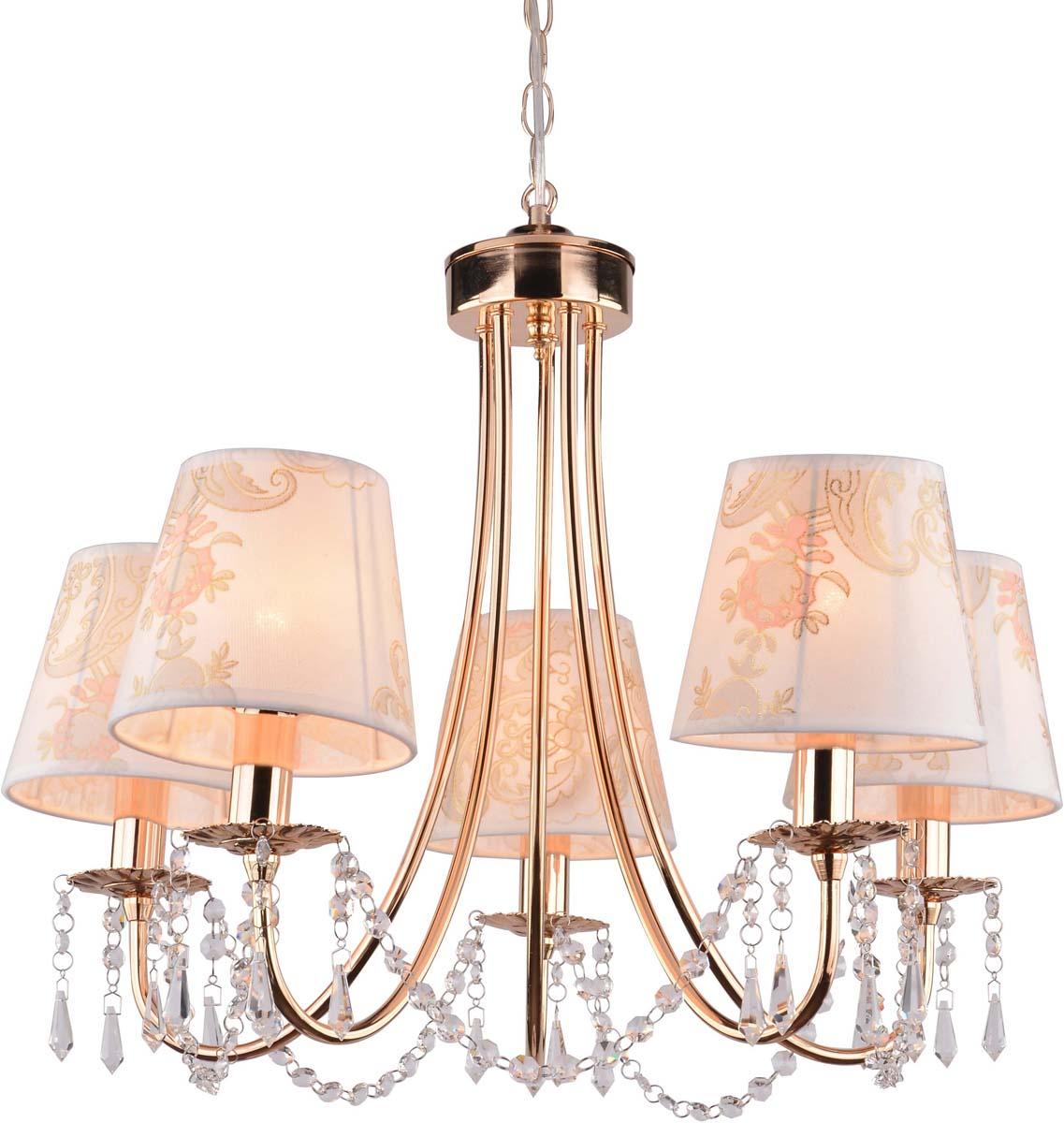 Светильник подвесной Arte Lamp Armonico, 5 х E14, 40 W. A5008LM-5GO люстра на штанге arte lamp modello a6119pl 5go