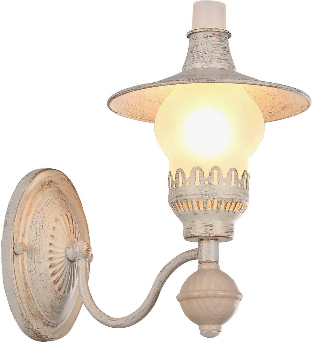 Бра Arte Lamp Trattoria, цвет: белый, золотой, 1 х E14, 60 W. A5664AP-1WGA5664AP-1WG