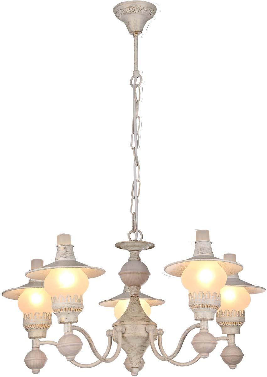 Светильник подвесной Arte Lamp Trattoria, цвет: белый, золотой, 5 х E14, 60 W. A5664LM-5WGA5664LM-5WG
