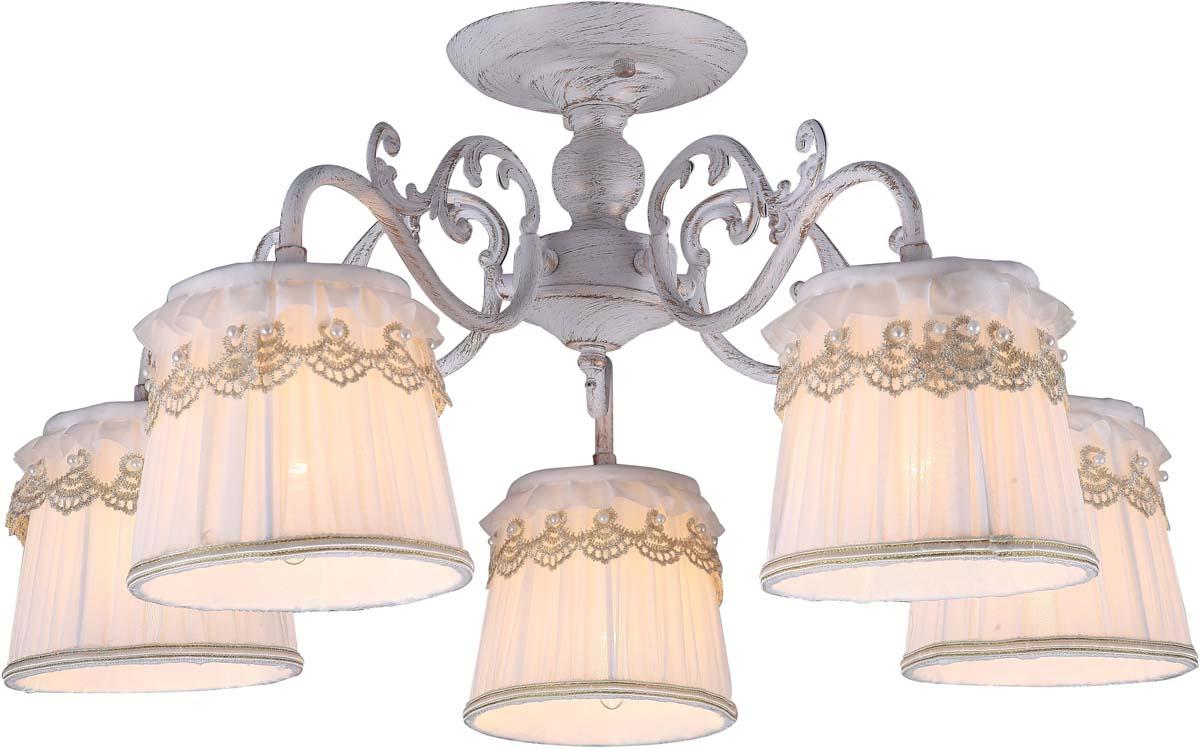 Светильник потолочный Arte Lamp Merletto, 5 х E14, 40 W. A5709PL-5WG люстра на штанге arte lamp merletto a5709pl 8wg