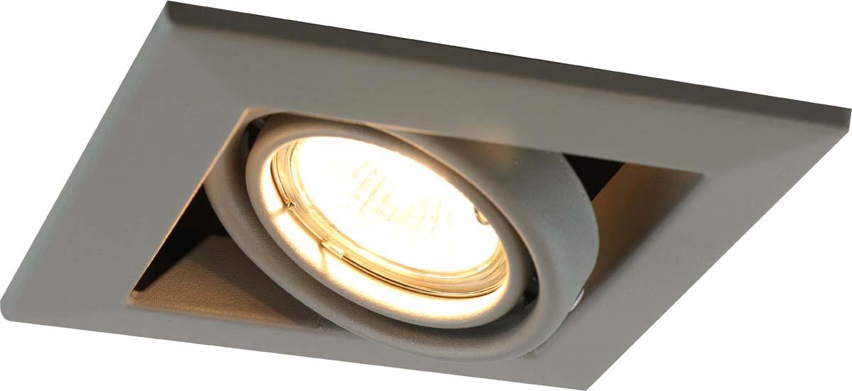 Светильник встраиваемый Arte Lamp Cardani Piccolo, цвет: серый, 1 х GU10, 50 W. A5941PL-1GYA5941PL-1GY