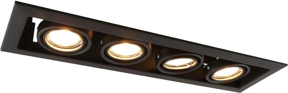Светильник встраиваемый Arte Lamp Cardani Piccolo, цвет: черный, 4 х GU10, 50 W. A5941PL-4BKA5941PL-4BK