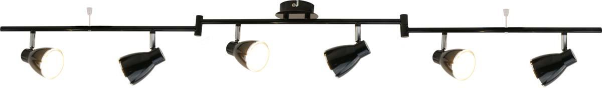 Светильник потолочный Arte Lamp Gioved, цвет: черный, 6 х LED, 5 W. A6008PL-6BKA6008PL-6BK