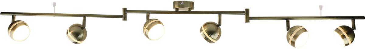 Светильник потолочный Arte Lamp Venerd, цвет: бронза, 6 х LED, 5 W. A6009PL-6AB arte lamp люстра на штанге arte lamp a6059pl 6ab