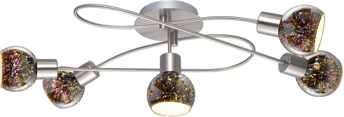 Светильник потолочный Arte Lamp Illusione, 5 х E14, 40 W. A6125PL-5SS люстра на штанге arte lamp cloud a8170pl 5ss