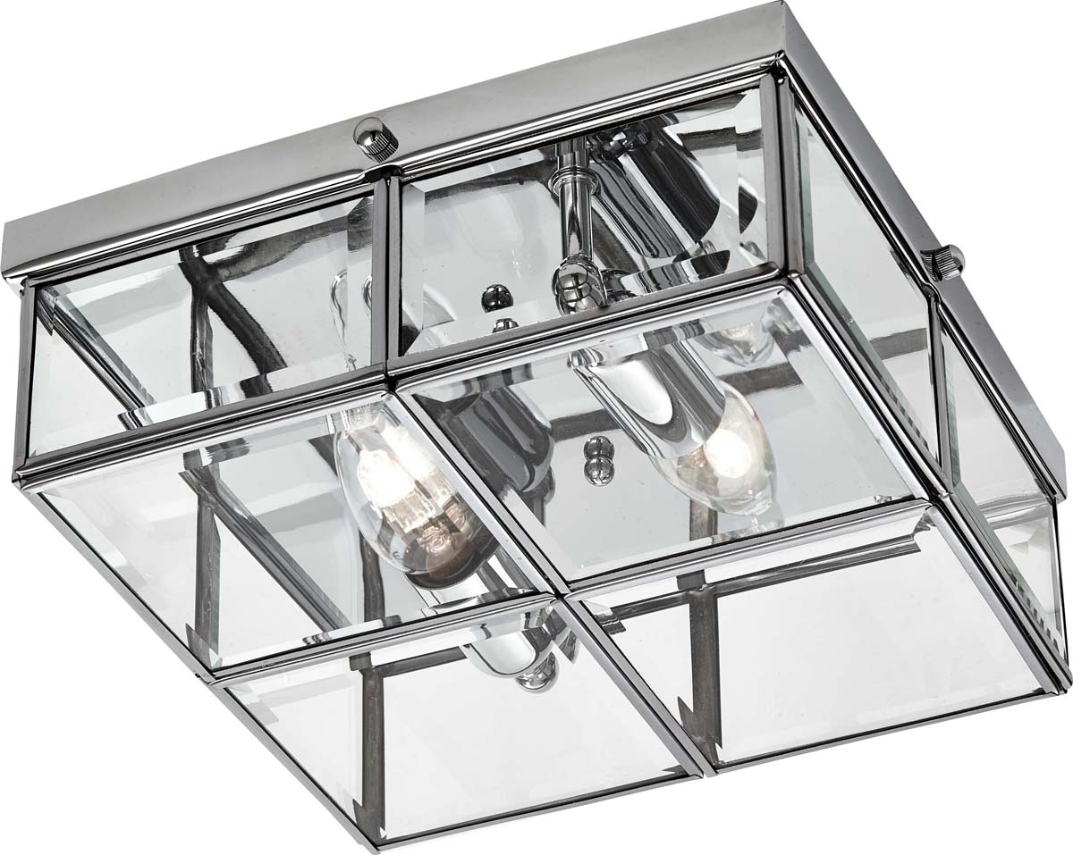Светильник потолочный Arte Lamp Scacchi, цвет: серебристый, 2 х E14, 40 W. A6769PL-2CC