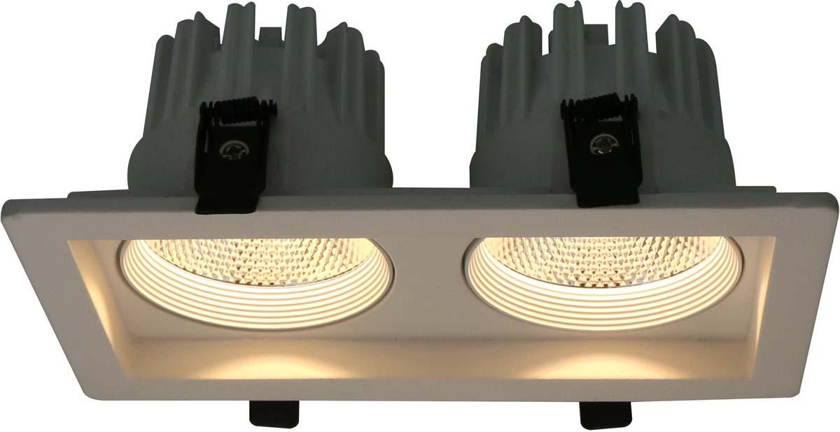 Светильник встраиваемый Arte Lamp Privato, цвет: белый, 2 х LED, 7 W. A7007PL-2WH встраиваемый светильник arte lamp privato a7007pl 1wh
