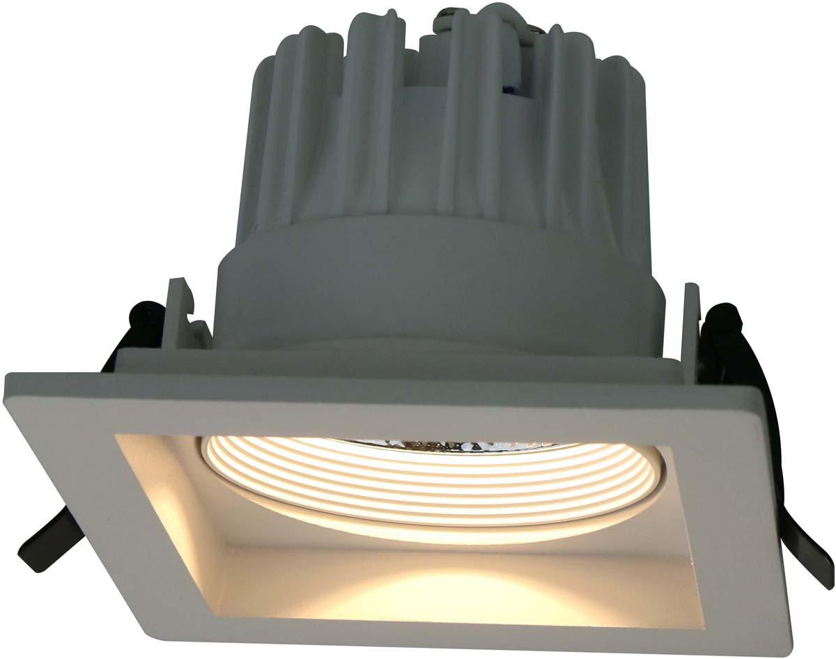 Светильник встраиваемый Arte Lamp Privato, цвет: белый, 1 х LED, 18 W. A7018PL-1WH встраиваемый светильник arte lamp privato a7007pl 1wh