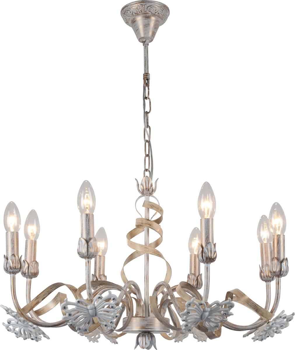 Светильник подвесной Arte Lamp Libellula, 8 х E14, 40 W. A8626LM-8WG подвесная люстра arte lamp libellula a8626lm 8wg