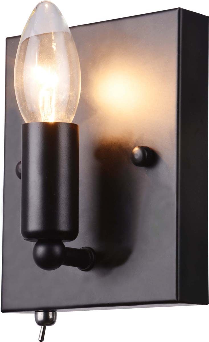 Бра Arte Lamp Bastaglia, 1 х E14, 40 W. A8811AP-1BKA8811AP-1BK
