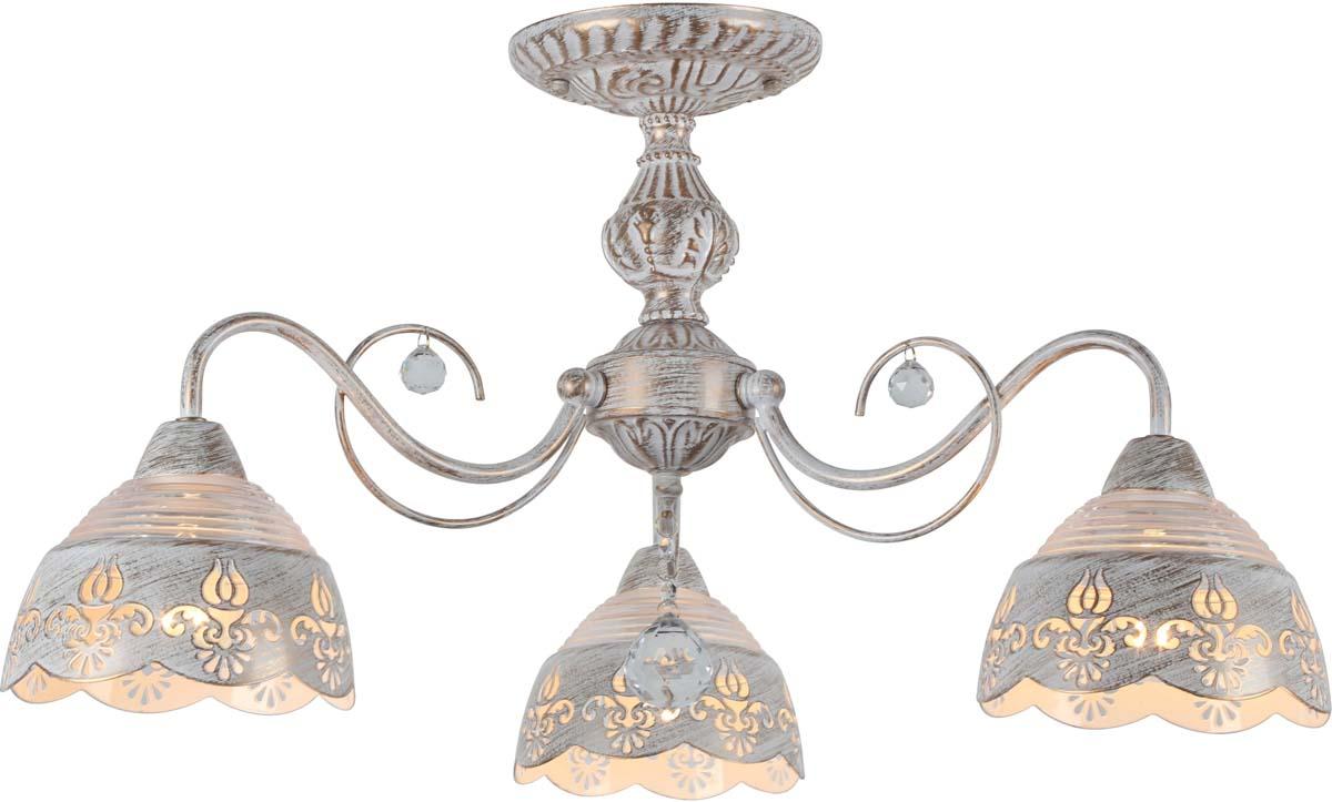 Светильник потолочный Arte Lamp Sicilia, 3 х E14, 40 W. A9106PL-3WG люстра на штанге arte lamp sicilia a9106pl 8wg