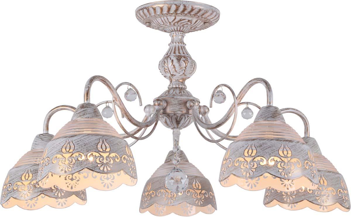 Светильник потолочный Arte Lamp Sicilia, 5 х E14, 40 W. A9106PL-5WG люстра на штанге arte lamp sicilia a9106pl 8wg