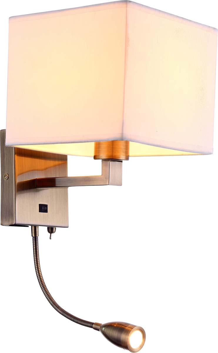 Бра Arte Lamp Hall, 1 х E27, 40 W. A9249AP-2AB arte lamp бра arte lamp logico a1035ap 2ab