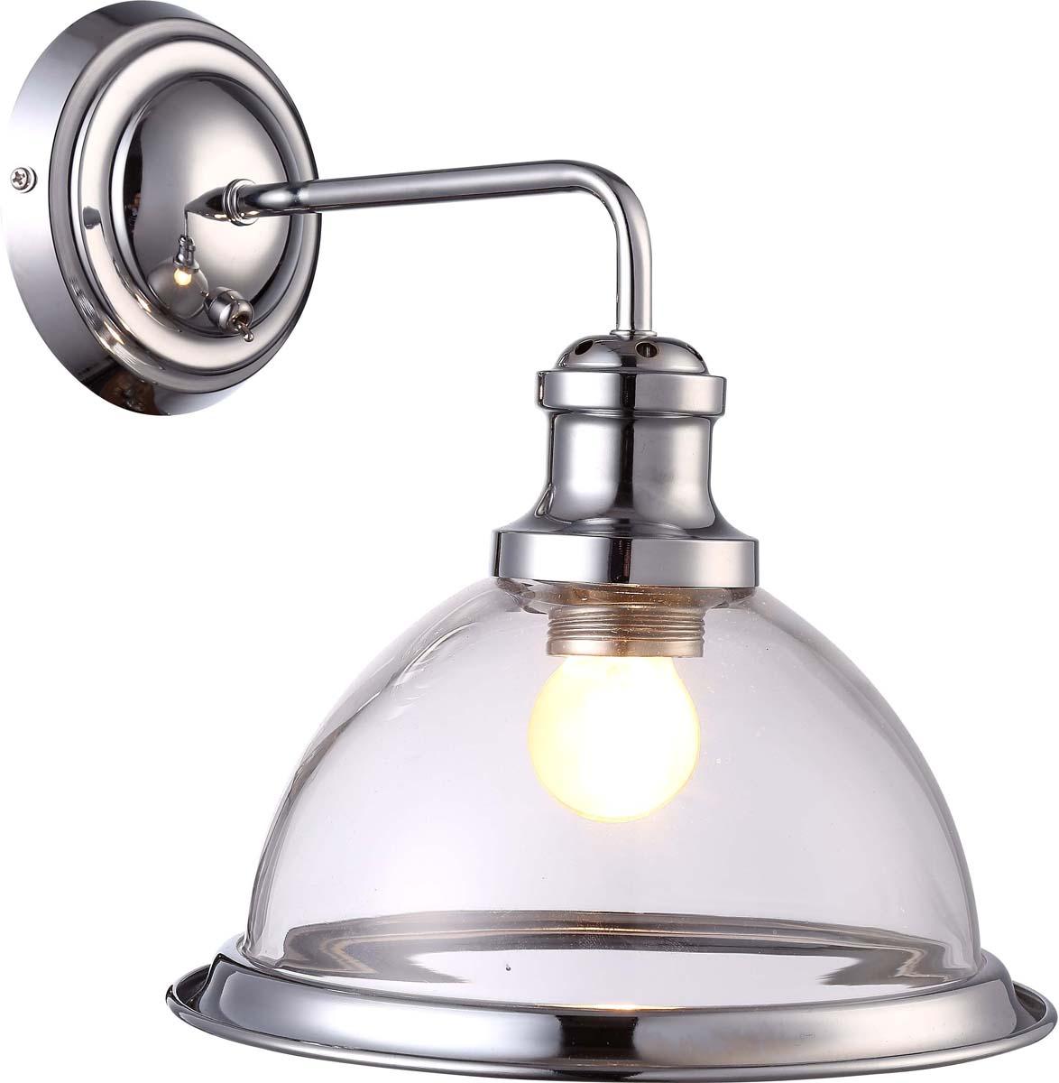 Бра Arte Lamp Oglio, цвет: серебристый, 1 х E27, 60 W. A9273AP-1CC бра arte lamp brooklyn a9517ap 1cc