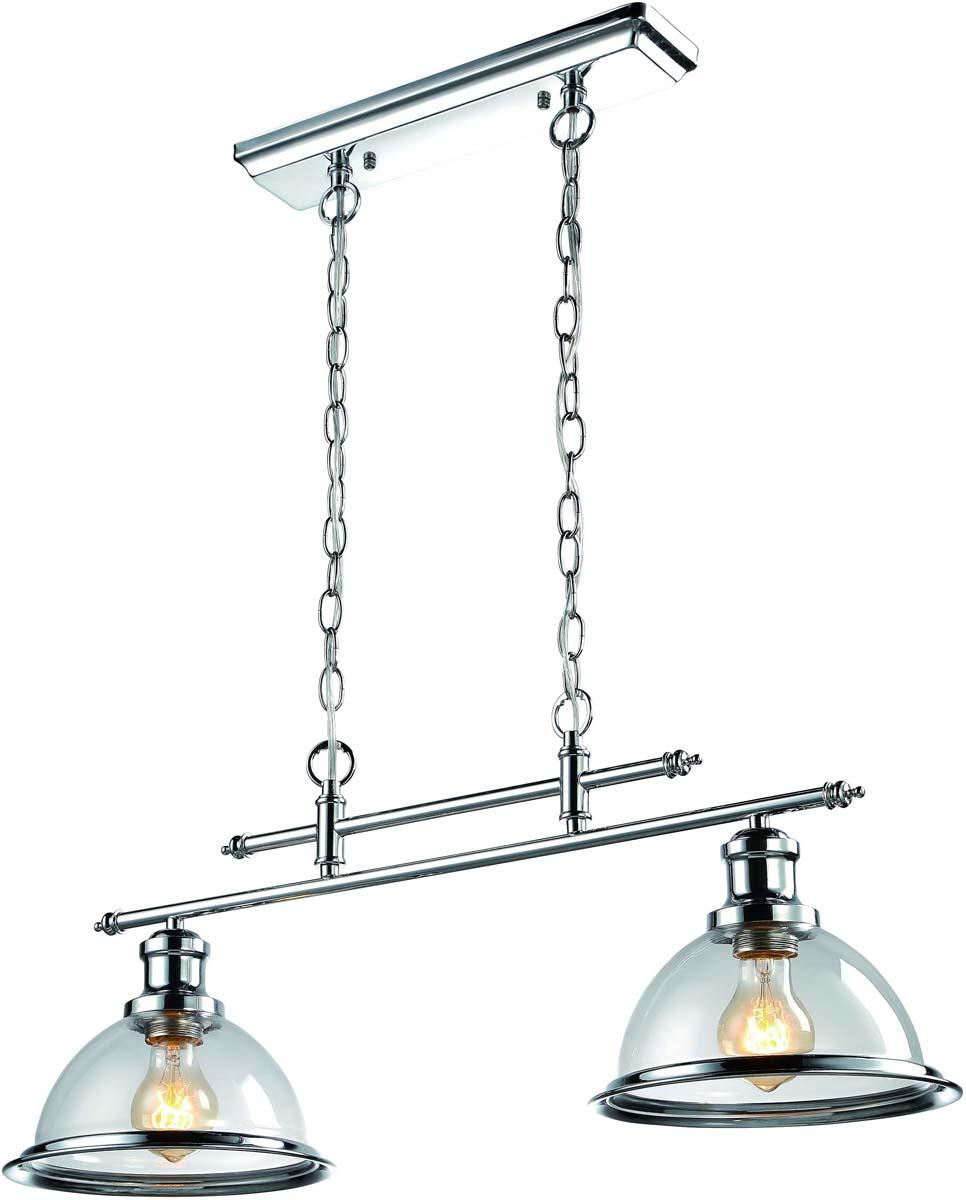 """Светильник подвесной Arte Lamp """"Oglio"""", цвет: серебристый, 2 х E27, 60 W. A9273SP-2CC"""