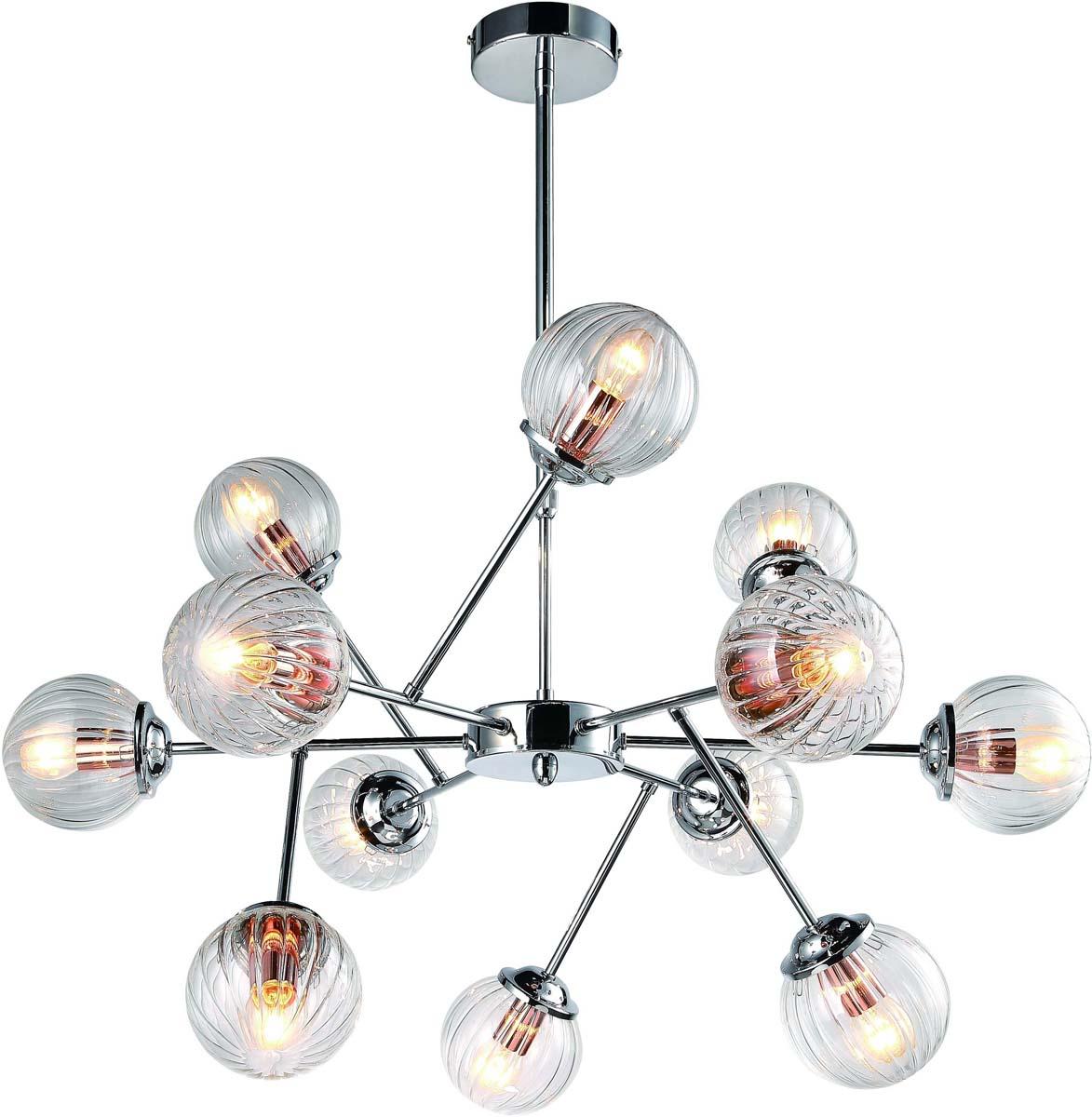 Светильник подвесной Arte Lamp Arancia, 12 х E14, 40 W. A9276LM-12CC люстра на штанге arte lamp arancia a9276lm 8cc