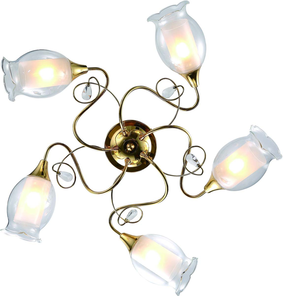Светильник потолочный Arte Lamp Mughetto, 5 х E14, 40 W. A9289PL-5GO люстра на штанге arte lamp modello a6119pl 5go