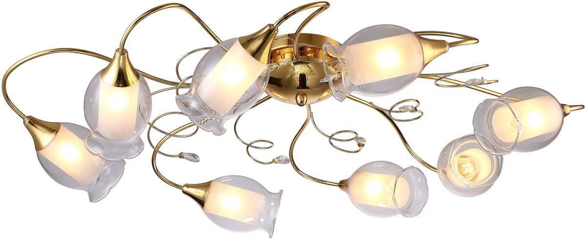 Светильник потолочный Arte Lamp Mughetto, 8 х E14, 40 W. A9289PL-8GO люстра arte lamp sparkles a3054lm 8go
