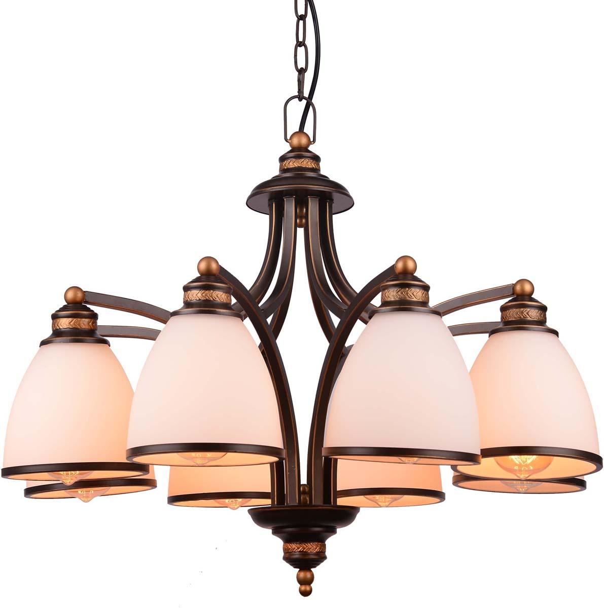 Светильник подвесной Arte Lamp Bonito, 8 х E27, 40 W. A9518LM-8BA люстра на штанге arte lamp liverpool a3004pl 8ba