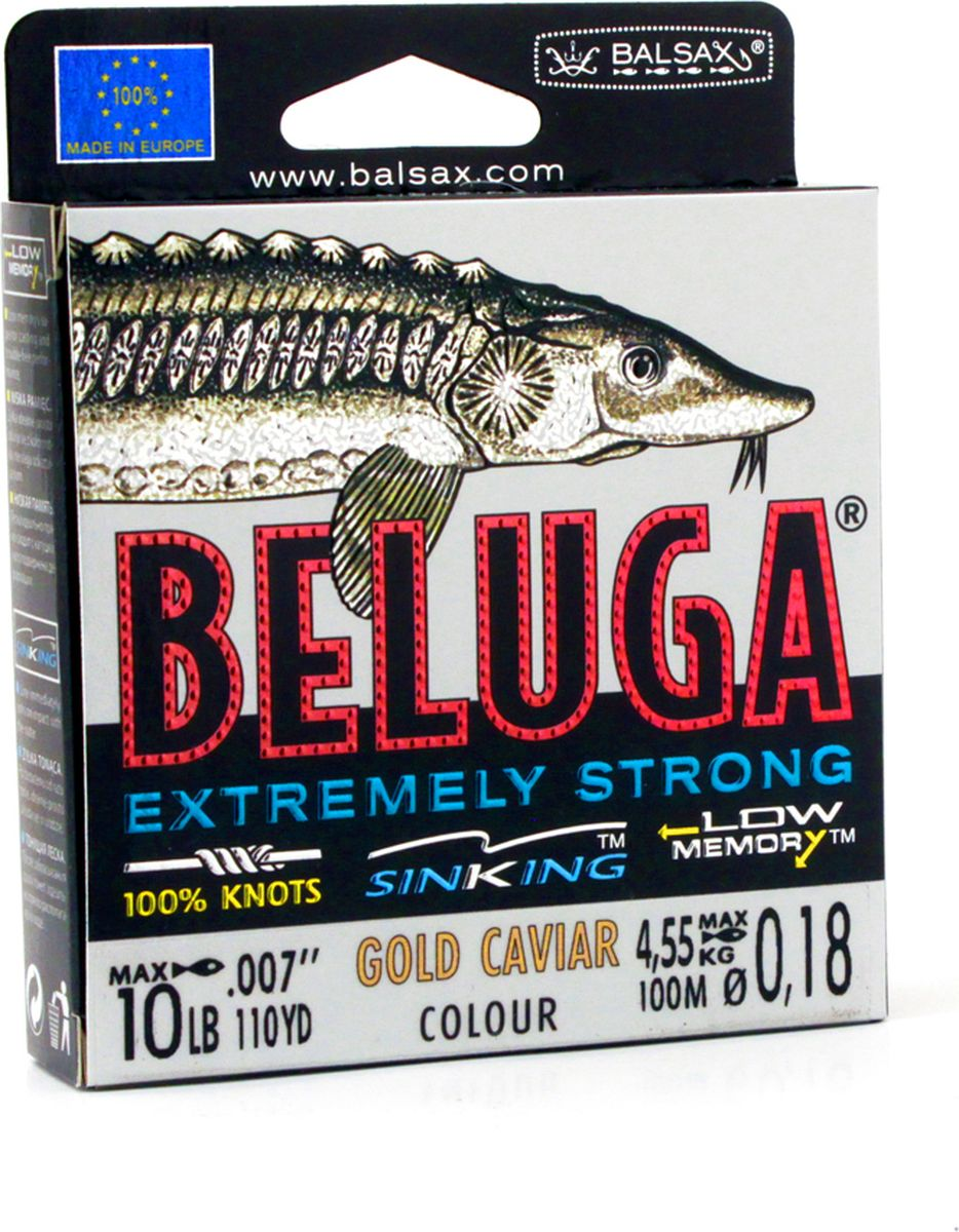 Леска Balsax Beluga, 100 м, 0,18 мм, 4,55 кг