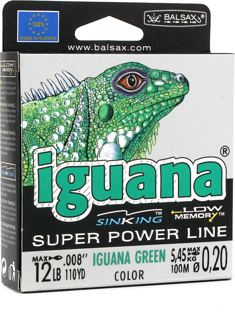 Леска Balsax Iguana, 100 м, 0,20 мм, 5,45 кг balsax iguana