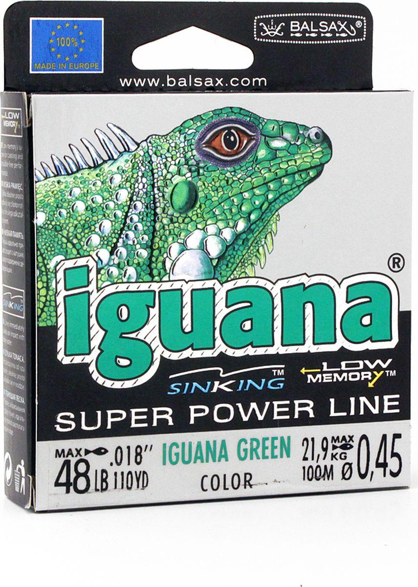 Леска Balsax Iguana, 100 м, 0,45 мм, 21,9 кг balsax iguana