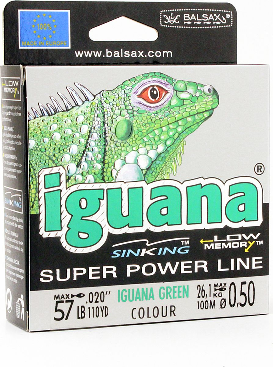 Леска Balsax Iguana, 100 м, 0,50 мм, 26,1 кг balsax iguana