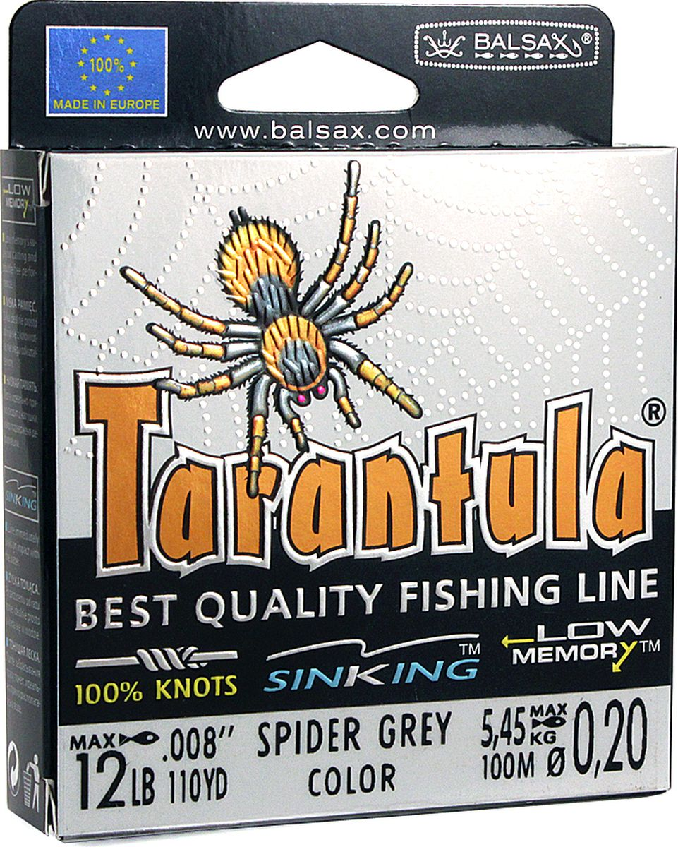 Леска Balsax Tarantula, 100 м, 0,20 мм, 5,45 кг