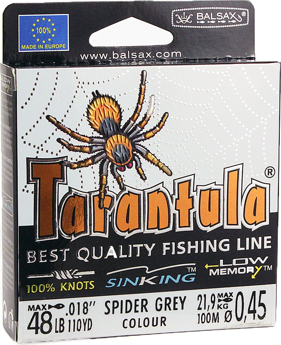 Леска Balsax Tarantula, 100 м, 0,45 мм, 21,9 кг