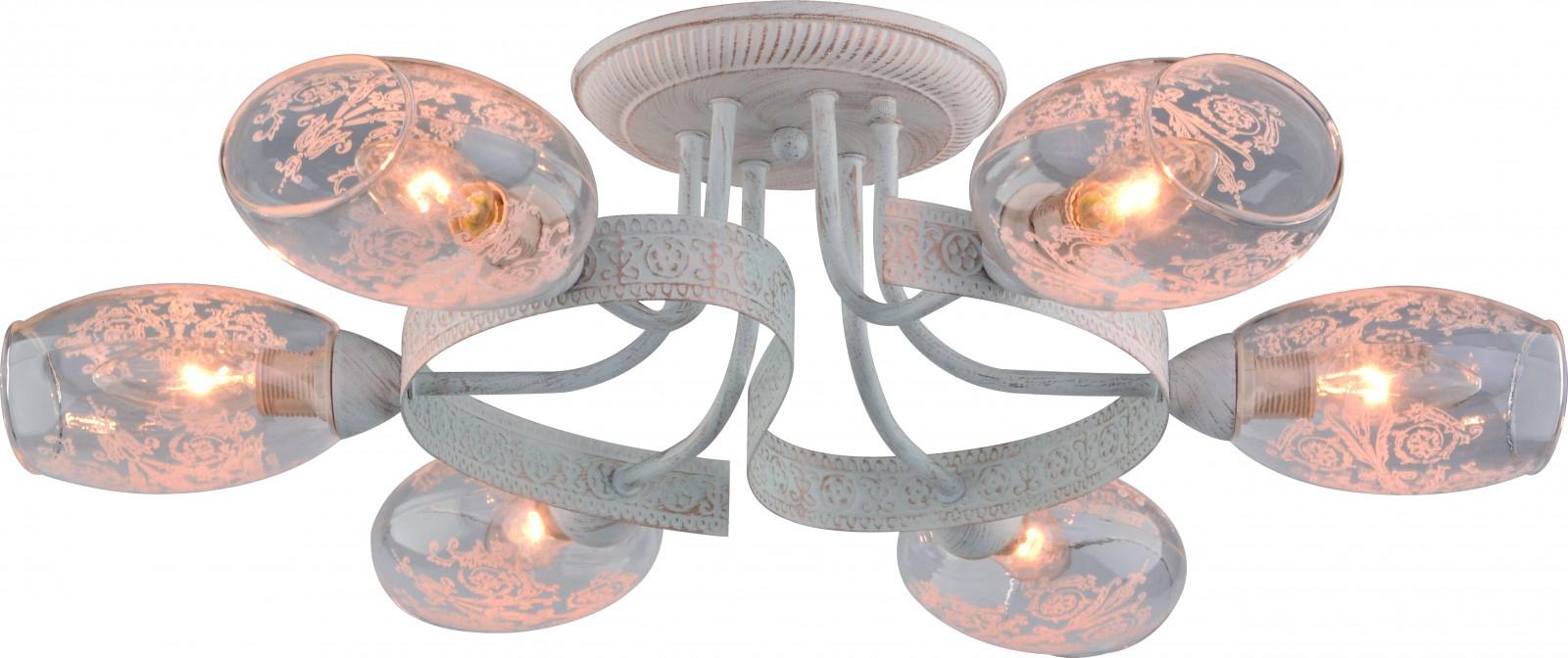 Светильник потолочный Arte Lamp Bettina, 6 х E14, 40 W. A1296PL-6WGA1296PL-6WG