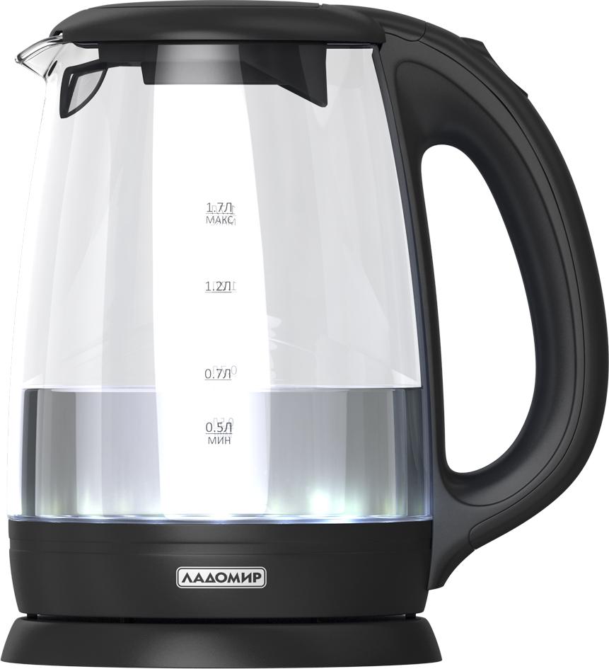 Ладомир АА113, Transparent Black электрический чайник