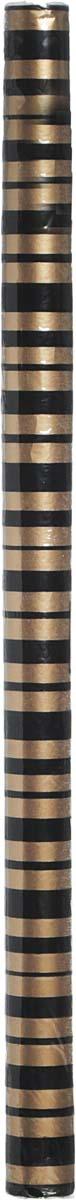 Бумага упаковочная Veld-Co, с элементами флока, цвет: золотистый,черный 70 см х 1 м набор декоративных лент veld co 1 9 см х 3 м 30 шт
