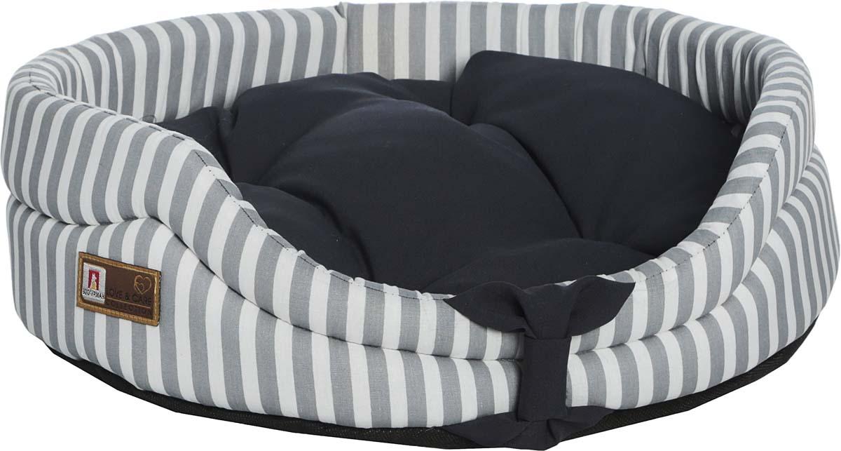 """Лежак для животных Зоогурман """"Монти"""", цвет: серый, белый, 40 х 50 х 14 см"""