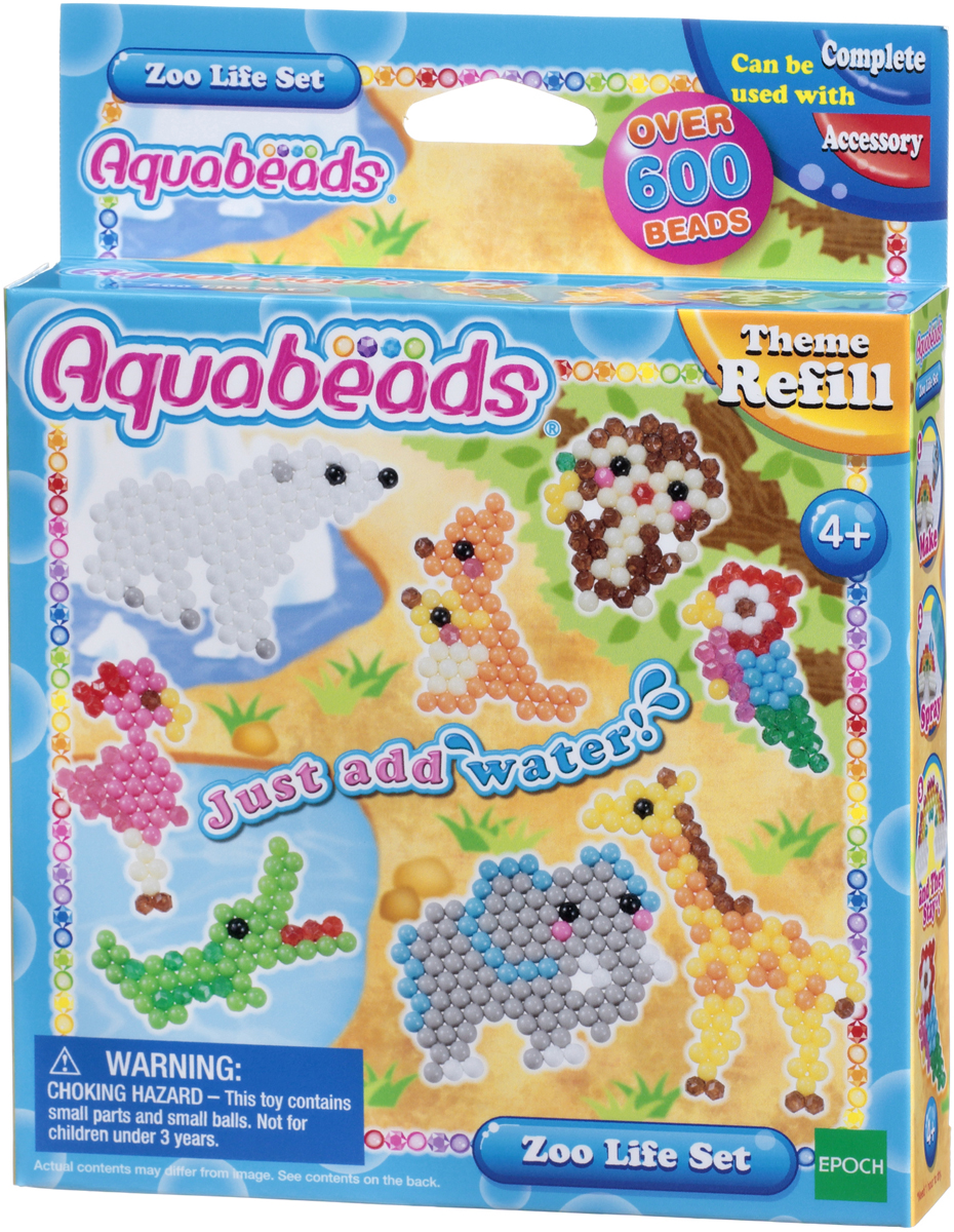Aquabeads Набор для изготовления игрушек Зверюшки в зоопарке набор для творчества aquabeads аксессуар гребешок 31198
