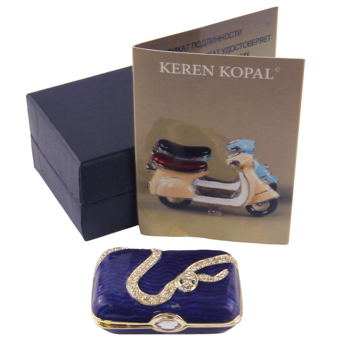 Шкатулка Змея. Металл, полихромные эмали, стразы. Keren Kopal, Израиль, конец XX века шкатулка змея металл полихромные эмали стразы keren kopal израиль конец xx века