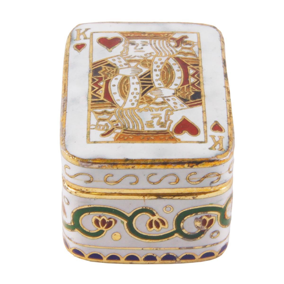 Таблетница Карточный король. Металл, роспись. Китай, вторая половина XX века ираклий андроников о собирателях редкостей