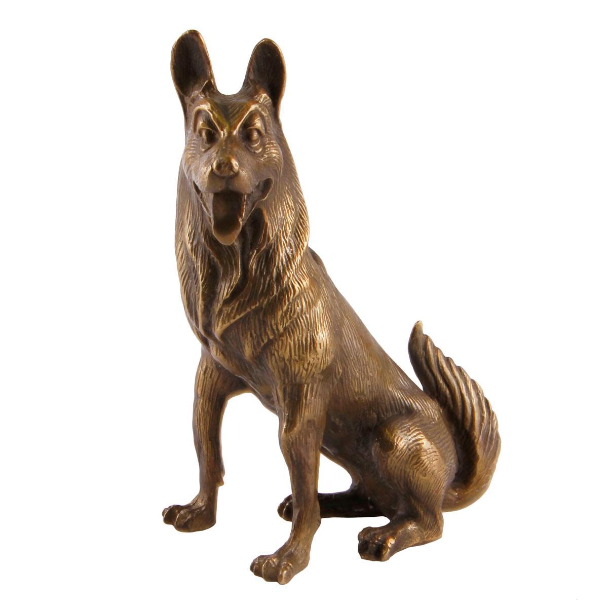 Статуэтка Собака. Металл, прочеканка. Китай, вторая половина XX века