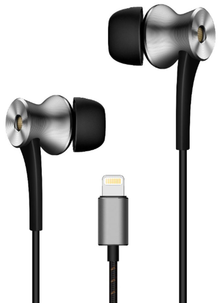 1MORE E1004 Dual-Driver LTNG ANC, Grey наушники 1more e1004 dual driver anc noise canceling in ear headphones lightning